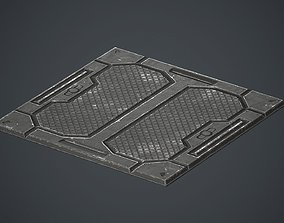 Sci-fi Floor Metal Plates 2 PBR Game Ready 3D asset