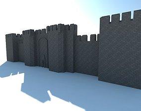 Medieval Castle 3D model low-poly
