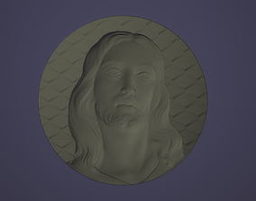 Jesus Christ in a circle with texture 3D model 3D