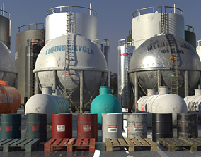 realtime Industrial Storage Tank Asset Pack
