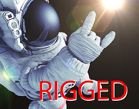 animated Astronaut rigged 3d model