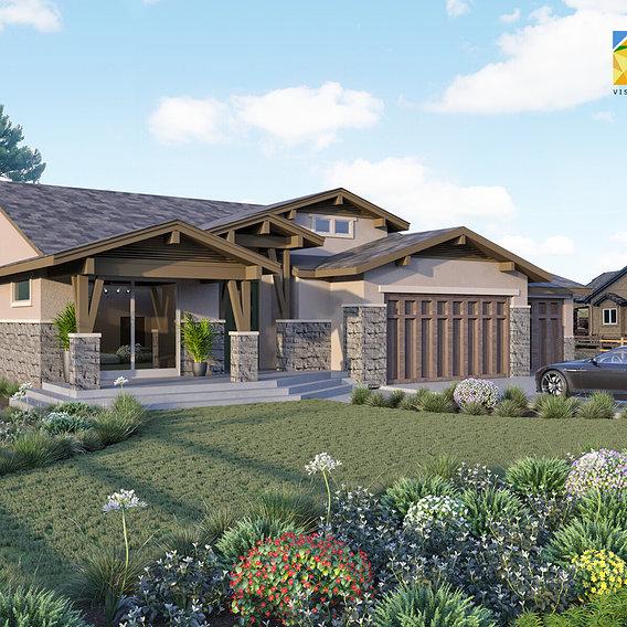 Residential Home Rendering  Aurora Colorado