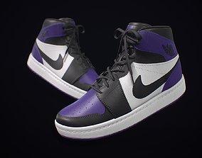 Sneaker Nike Air Jordan Purple 3D model VR / AR ready