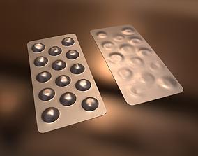 3D asset Pills in Blister Packs