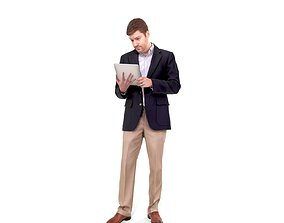 Business Man with Tablet BMan0206-HD2-O01P01-S 3D
