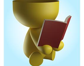 Beto vase reading 3D print model