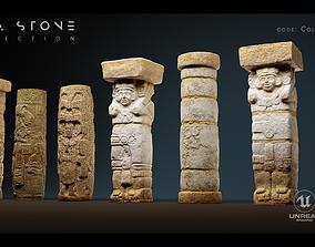 Mayan Stone 04 PBR 4K 3D asset low-poly