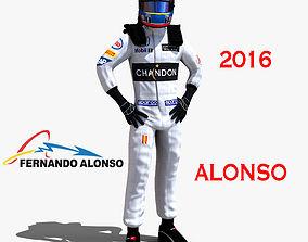3D asset Fernando Alonso 2016