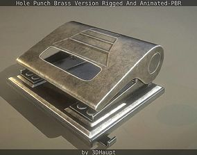 3D model Hole Punch Brass Version Rigged And Animated - 2