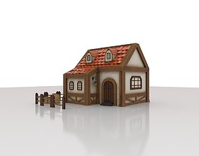 Little village house 3D asset