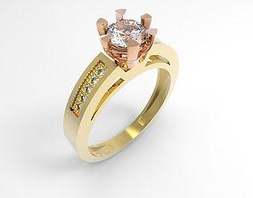 anillo solitario corona 3D printable model