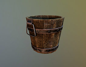 Medieval Bucket Game Ready 3D asset