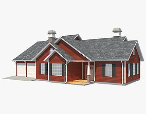 Family House 6 3D asset game-ready