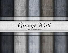 3D model Grunge Wall Seamless Textures Set