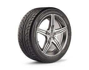 Mercedes AMG Wheel 3D asset