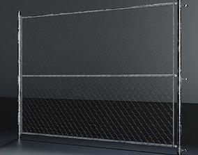 3D asset Chain link fence