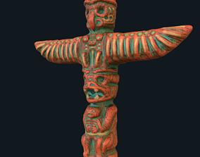 sculpture 3D asset VR / AR ready Totem