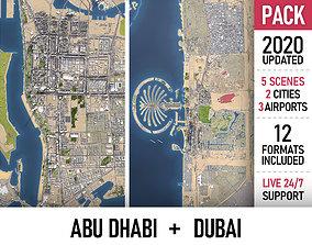 Abu Dhabi and Dubai 3D asset