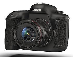 camera canon 7d iii 3D model