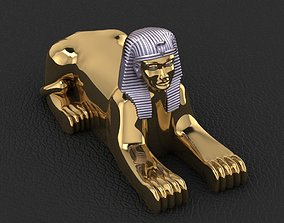 Ancient Egyptian Pharaoh Sphinx 3D print model
