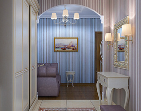 3D entry Hallway