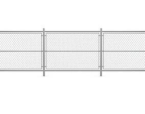 Chain Link Fence link 3D model