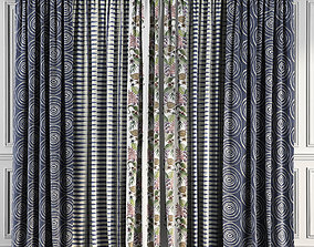 curtains 3D model Curtain Set 66