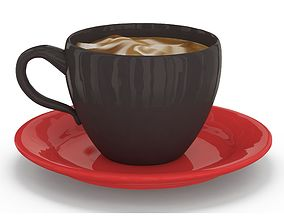 3D asset Cappuccino Cup