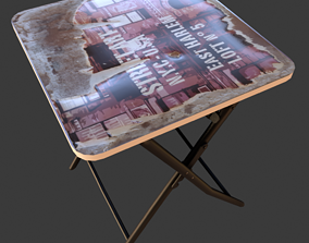 3D model Fold table NY old