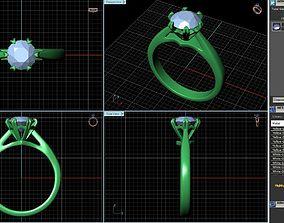 Engagement Ring Design R-021-SS 3D printable model