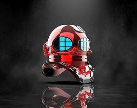 3D print model Commercial Diving Helmet Concept Hydra