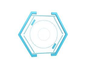 3D asset UHD High-tech Graphical Interface v1 002