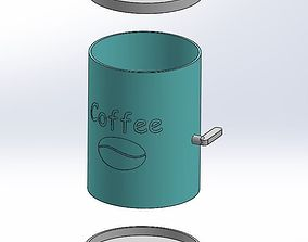 tools 3D printable model Coffe dispencer for moka pot