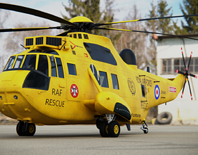 3D Westland SeaKing HAR3 RAF SAR Helicopter