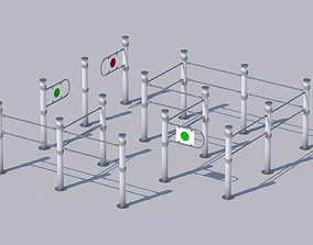 3D model A turnstile for a shop