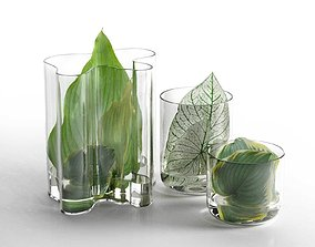 3D Leaf Hurricane Centerpiece