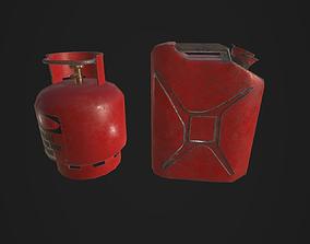 3D asset Jerry Can plus Propane -bundle