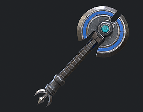 Fantasy Stylish- Axe of Disc 3D asset game-ready