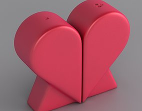 Heart Salt and Pepper Shakers 3D print model
