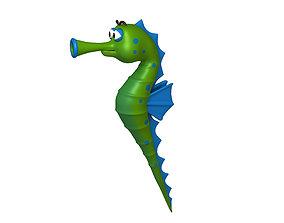 3D Seahorse fish