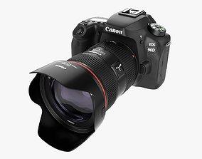 Canon EOS 90D DSLR camera EF 24-70mm II USM Lens 03 3D