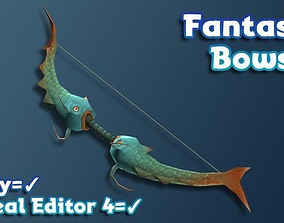 3D model Hand-Painted Fantasy RPG Weapons - Bows