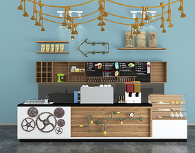 3D Industrial coffee counter bar