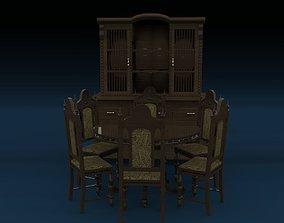 3D model Colonial Dining Room Set