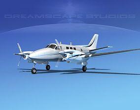 3D model Beechcraft King Air 90 V10