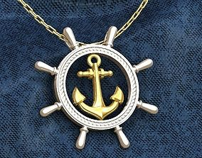 Anchor Wheel Pendant 3D print model