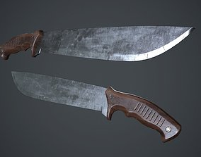 3D model Machete Knife PBR Game Ready