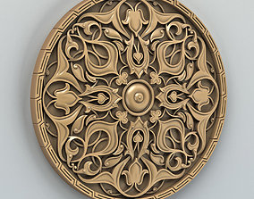 3D model Round rosette 010 cnc