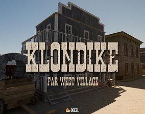 3D model Klondike - Far West Village - Unity HDRP