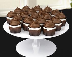 3D model Chocolate Cupcakes